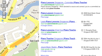 Google Local Map Listings Singapore